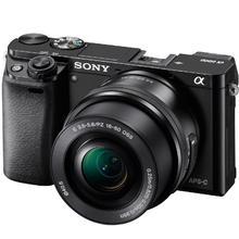 Sony Alpha A6000 + 16–50mm, čierná