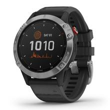 Garmin Fenix 6 Solar, Silver/Black Band