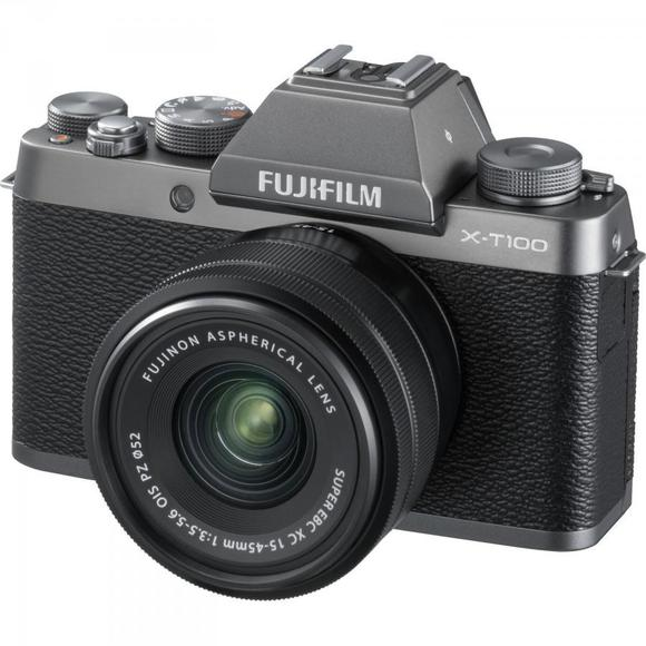 Fujifilm X-T100 strieborná  + XC 15-45mm f/3.5-5.6 OIS PZ  - 1