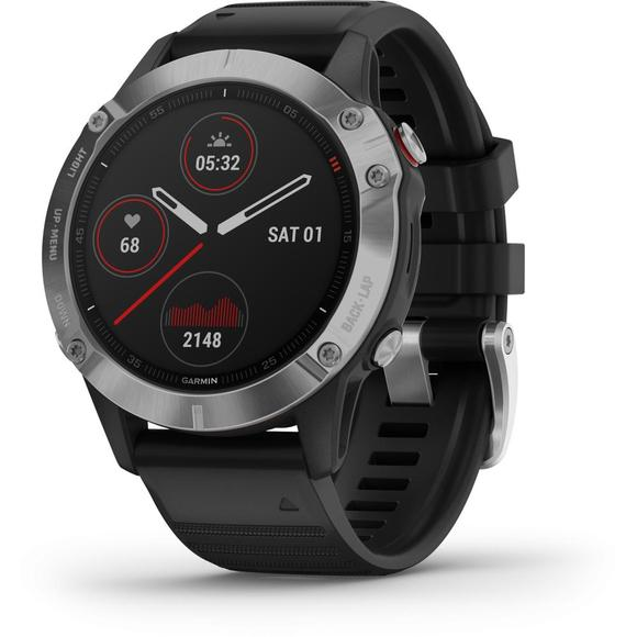 Garmin Fenix 6 Silver/ Black Band  - 1