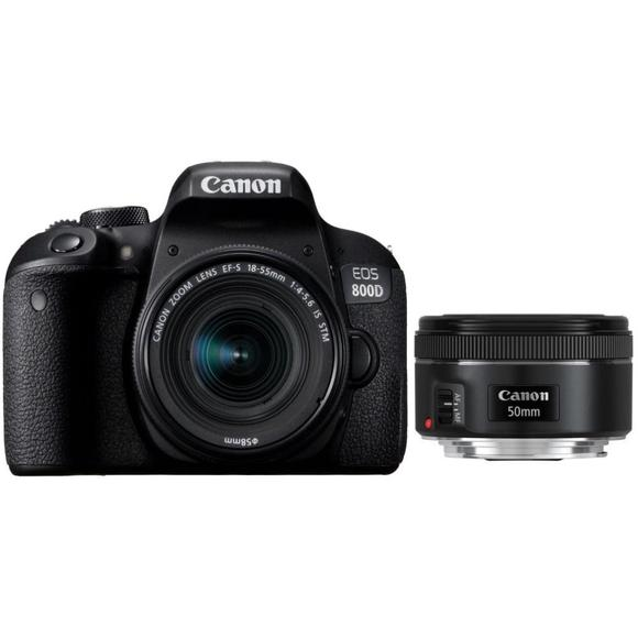 Canon EOS 800D + 18-55mm IS STM + EF 50 f/1,8  - 1